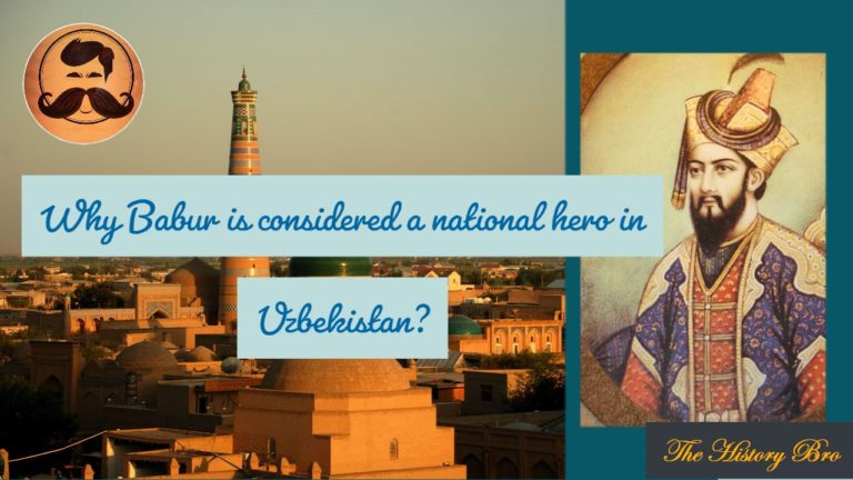 Why Babur is considered a national hero in Uzbekistan?