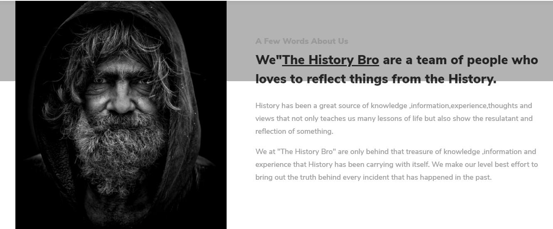 the history bro
