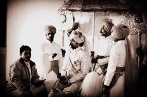 Kunwar Pushpendra Singh of Ajabgarh during his Tilak ceremony (Ajabgarh)